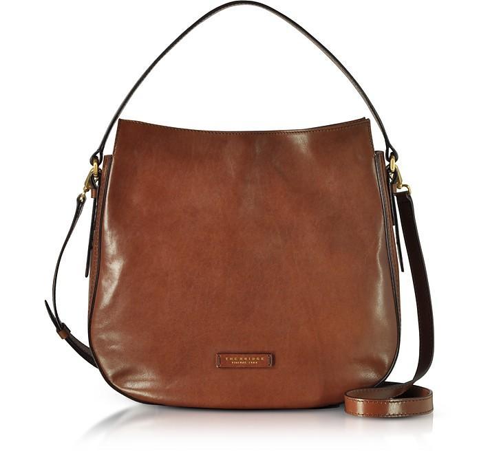 The Bridge Florentin Brown Leather Shoulder Bag