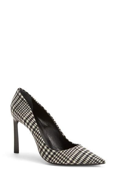 Lanvin Houndstooth Wool Flannel Pumps In Plaid Wool