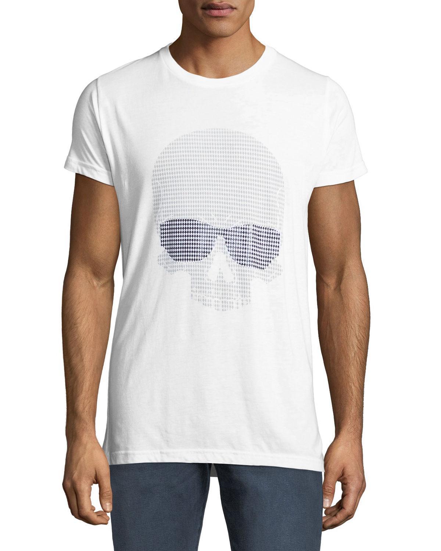 Karl Lagerfeld Men's Sunglasses-Skull Graphic T-Shirt In White