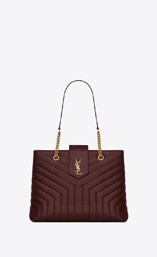 223fa574bdd Saint Laurent Loulou Monogram Ysl Large Quilted Shoulder Tote Bag - Lt. Bronze  Hardware In