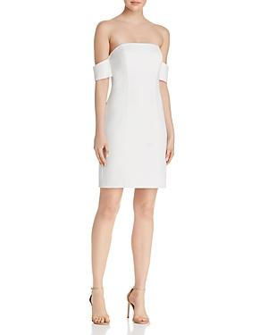 16a3b281bc3 Aqua Off-The-Shoulder Scuba Crepe Dress - 100% Exclusive In White ...