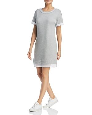 778c9433cdb17c Marc New York Performance Mesh-Trim Dress In Light Gray Heather ...