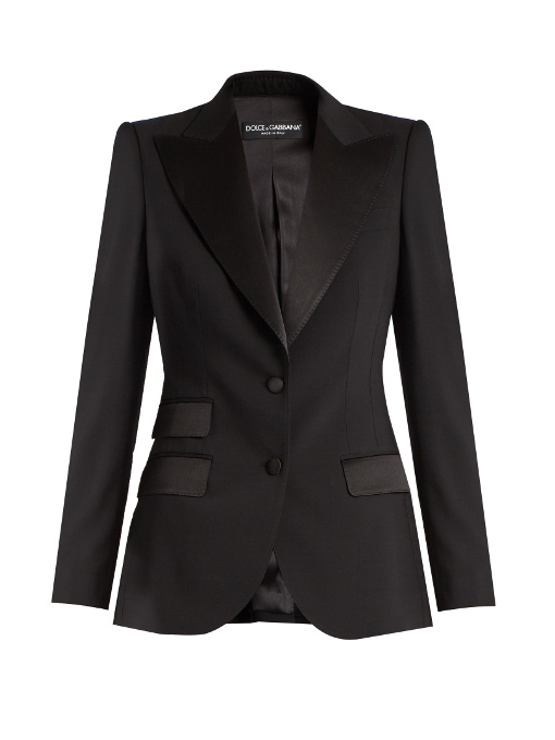 Dolce & Gabbana Single-breasted Wool And Silk-blend Jacket In Black