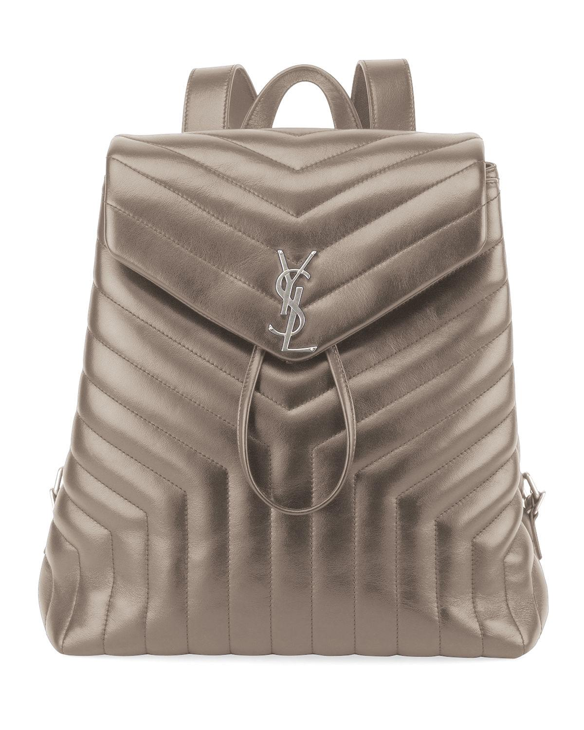 aacac62fd46 Saint Laurent Loulou Monogram Ysl Medium Quilted Leather Backpack In Storm
