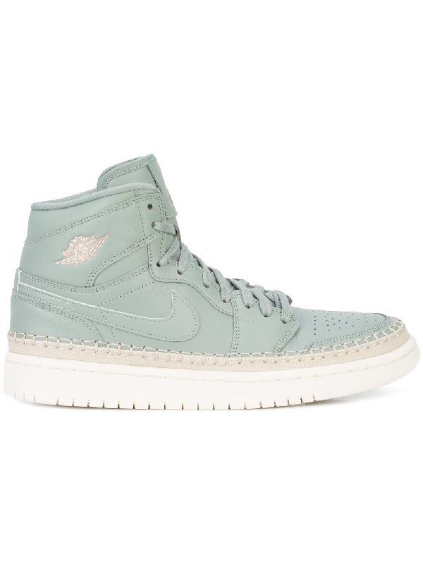 new york 7861c 9a78c Nike Air Jordan 1 Retro High Premium Sneakers In Green