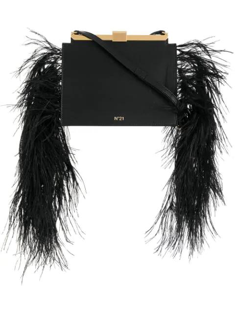 N°21 Embellished Satchel Bag In Black