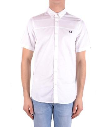 Fred Perry Men's  White Cotton Shirt