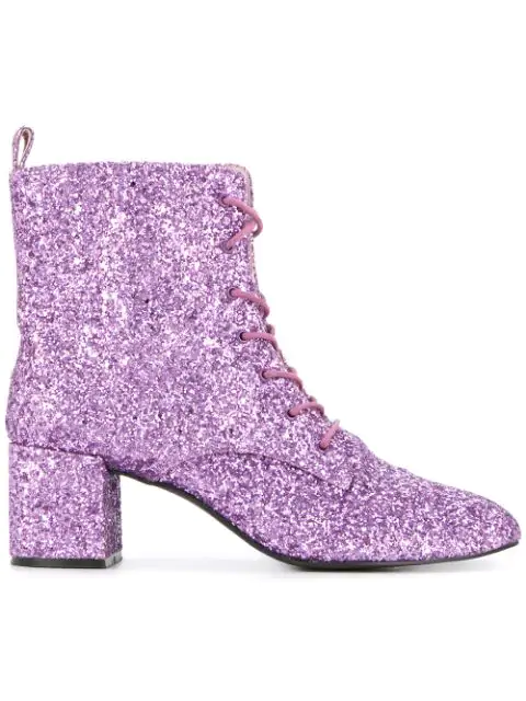 Macgraw Stardust Glitter Ankle Boots In Pink