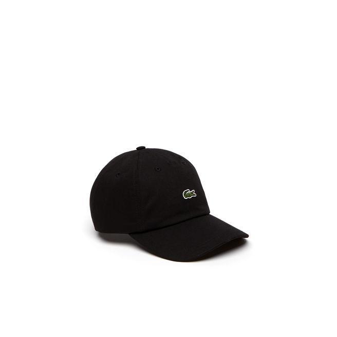 94914fd6d66 Lacoste Men S Embroidered Crocodile Cotton Cap In Black