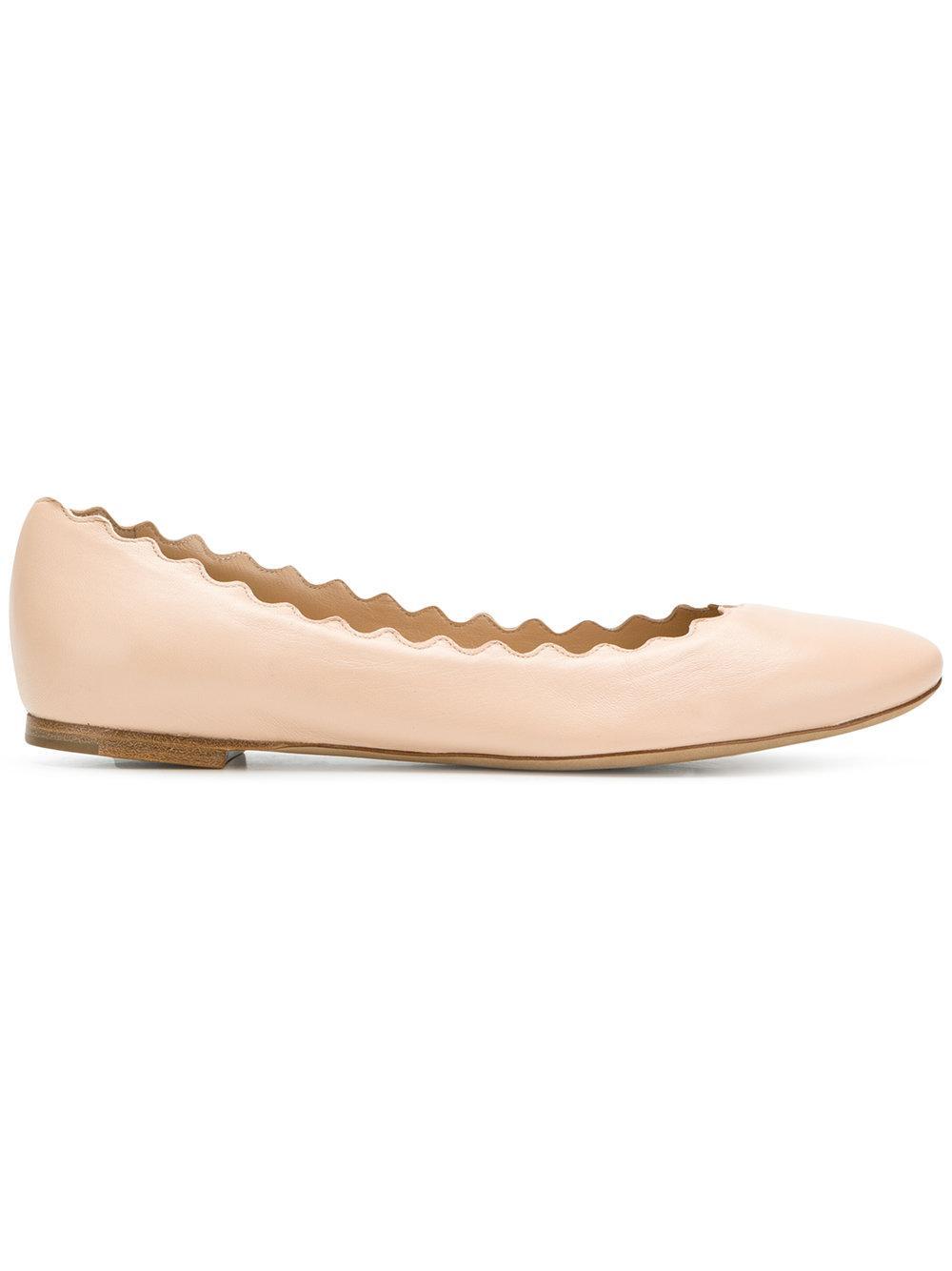 a636e1b9c18 ChloÉ Frilled Craft Ballerina Shoes   ModeSens