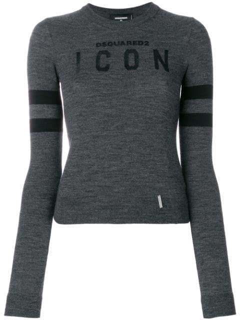 Dsquared2 'Icon' Pullover In Grey