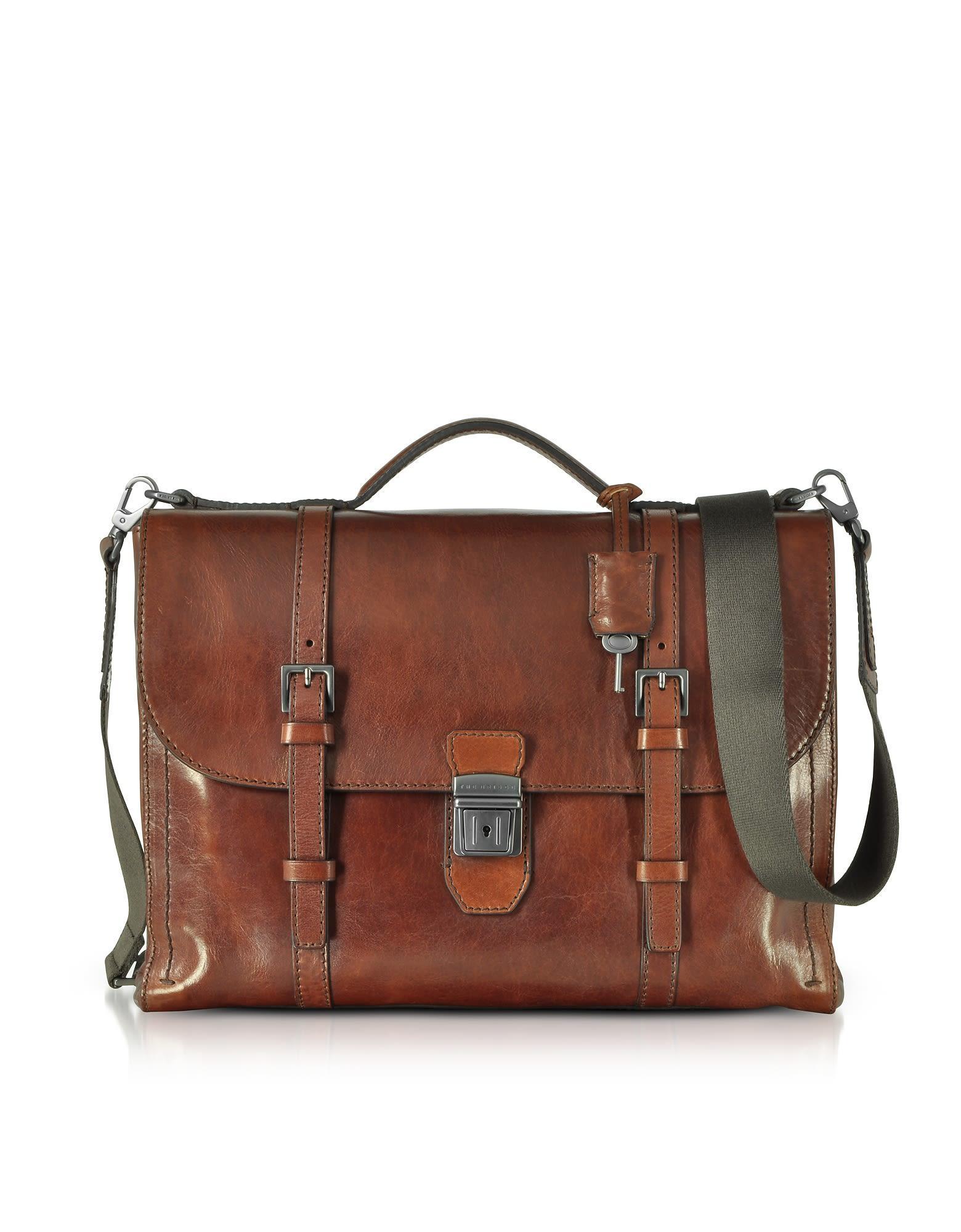 9fdf7e5365 The Bridge Byron Brown Leather Men's Briefcase   ModeSens