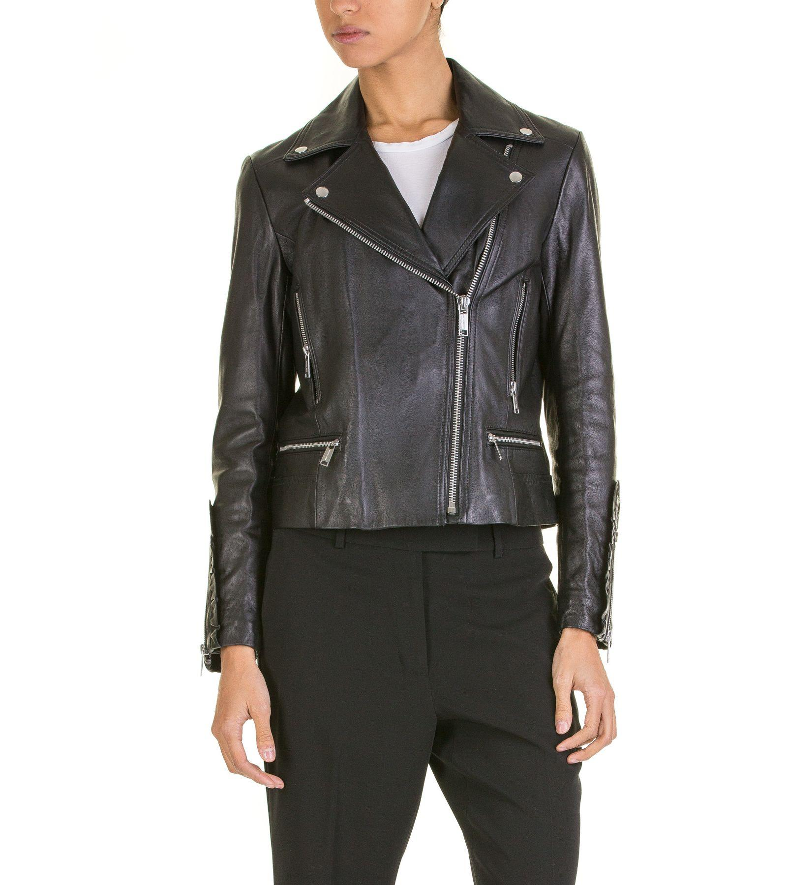 Michael Kors Biker Jacket In Black