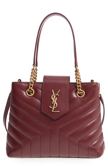 4bf527d4ae Saint Laurent Monogram Ysl Loulou Small Quilted Leather Tote Bag - Lt.  Bronze Hardware In