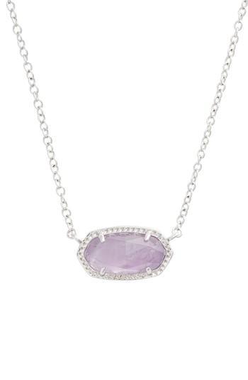 b45d7fcdf Kendra Scott Elisa Birthstone Pendant Necklace In February/Amethyst/Silver