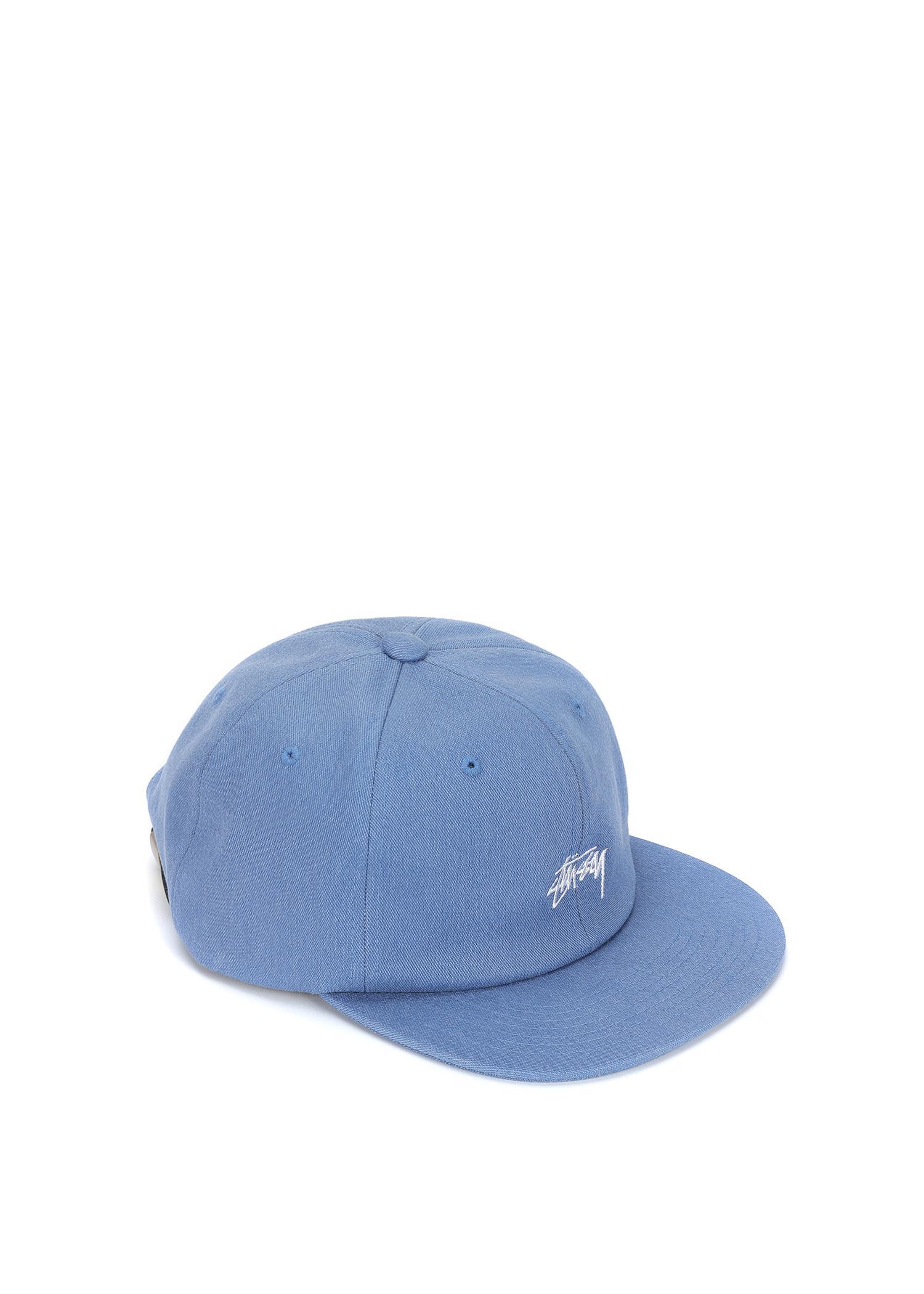 75b8f05925f5f Stussy Melange Denim Strapback Cap In Blue