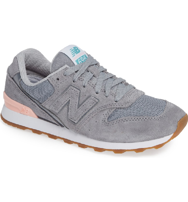 2a54f5a6c3d93 New Balance Women's 696 Suede Lace Up Sneakers In Steel   ModeSens