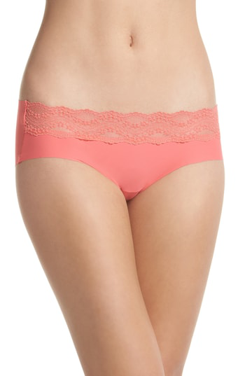 cf64afd95d2b B.Tempt'D By Wacoal B.Bare Hipster Panties In Calypso Coral   ModeSens