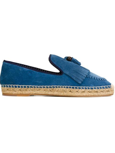 Louis Leeman Loafer Style Espadrilles In Pastel Blue