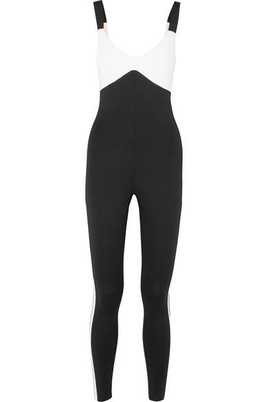 a54d0635239e Vaara Savannah Two-Tone Stretch-Knit Bodysuit In Black