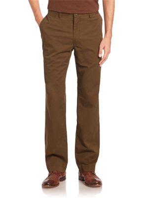 Polo Ralph Lauren Straight-leg Flat-front Pants In Hunter Olive
