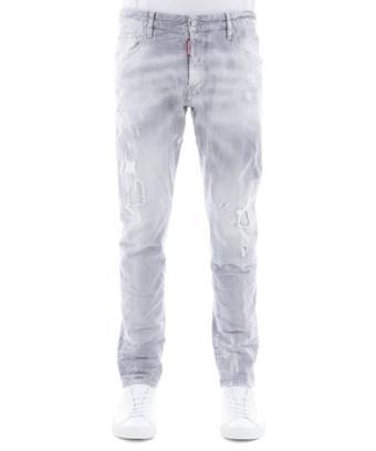 Dsquared2 Men's  Grey Cotton Jeans