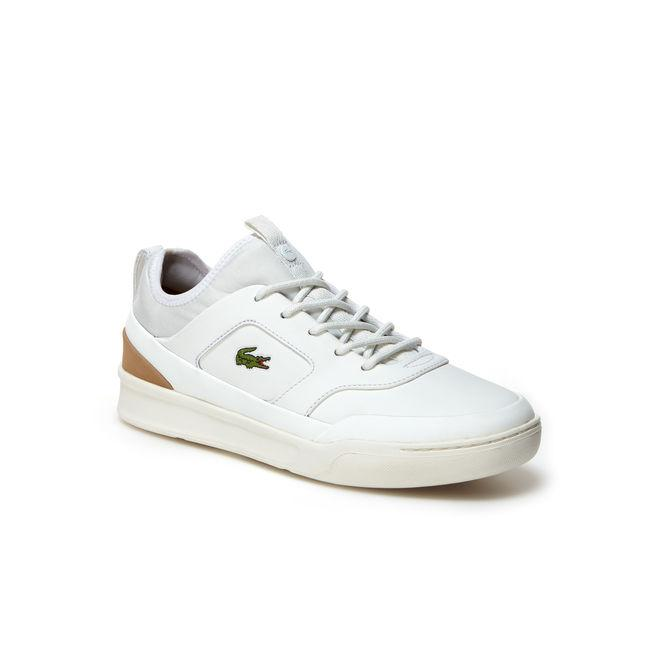 66e4bb75017f Lacoste Men s Explorateur Craft Sport Leather Trainers In White Light Tan