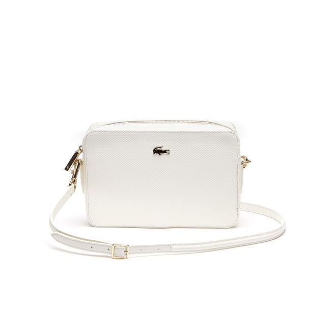 c07aac4e6036 Lacoste Women s Chantaco PiquÉ Leather Square Crossover Bag In Marshmallow