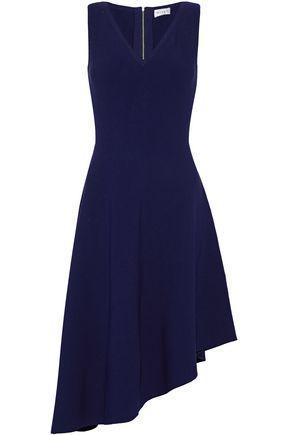 Milly Asymmetric Stretch-Knit Dress In Indigo
