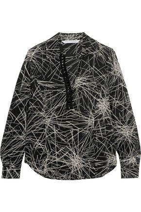 Diane Von Furstenberg Woman Milan Printed Silk-Blend Blouse Black