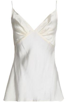 Zimmermann Woman Pleated Washed-Silk Camisole Ivory