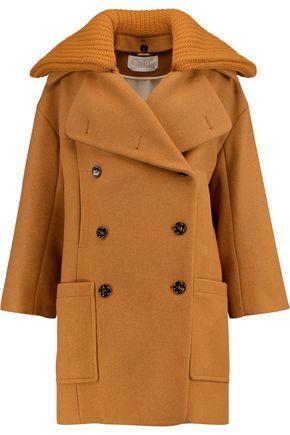 Chloé Wool-blend Coat In Saffron