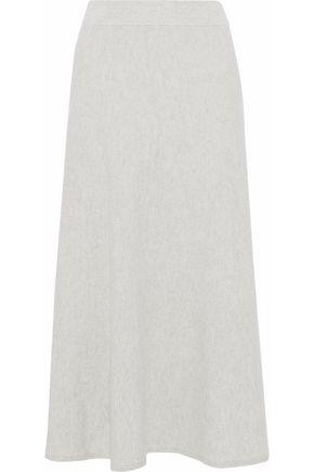 Chloé Fluted Cashmere Midi Skirt In Gray