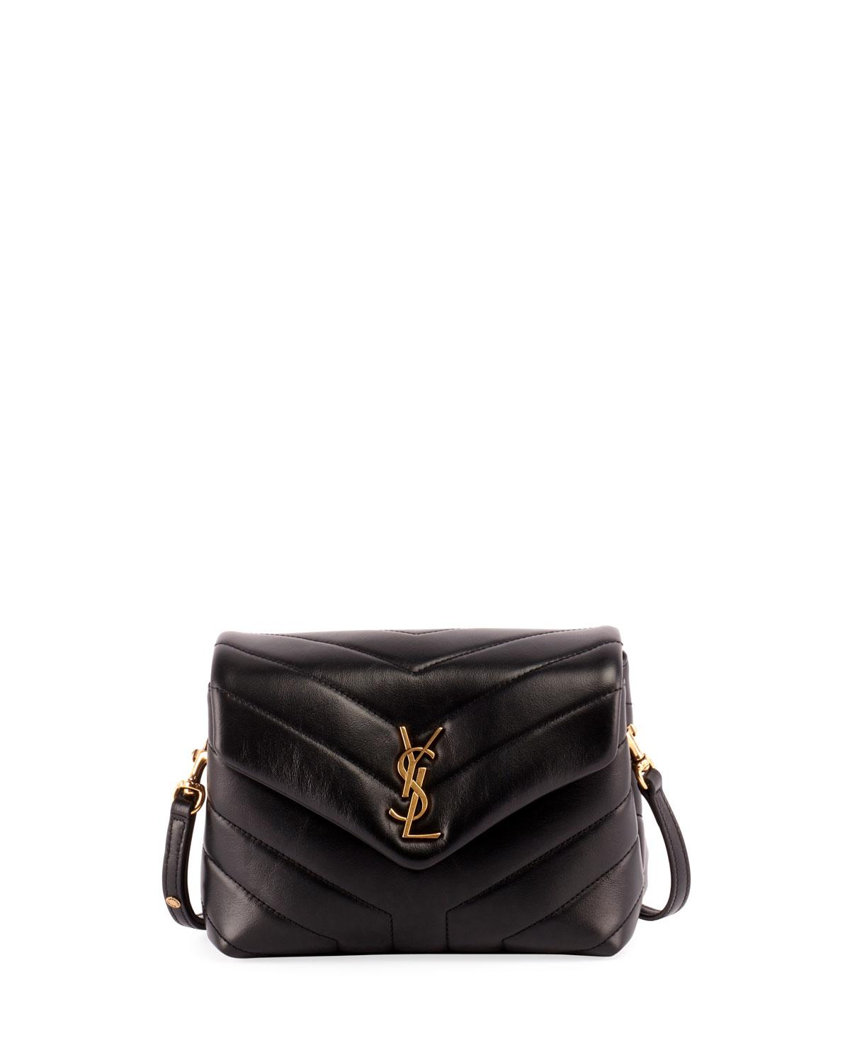 43096e1944b Saint Laurent Loulou Monogram Ysl Small V-Flap Chain Shoulder Bag - Lt.  Bronze