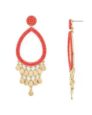 1b93083f090a5 Riley Beaded Chandelier Earrings in Coral/ Gold