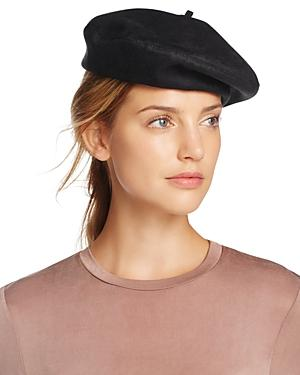 Eric Javits Betty Sueded Packable Beret In Black