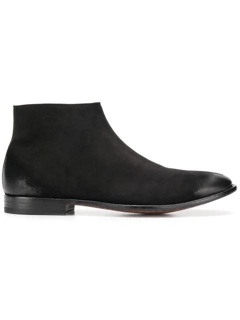 Alexander Mcqueen Black Ankle Boots In Suede