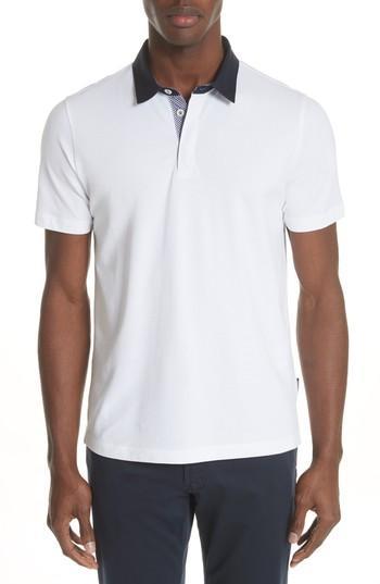 8ef249ce Emporio Armani Stretch Cotton Polo Shirt In Bianco Ottico | ModeSens