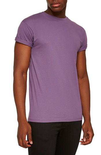 223e1511 Topman Muscle Fit Roller T-Shirt In Medium Purple | ModeSens