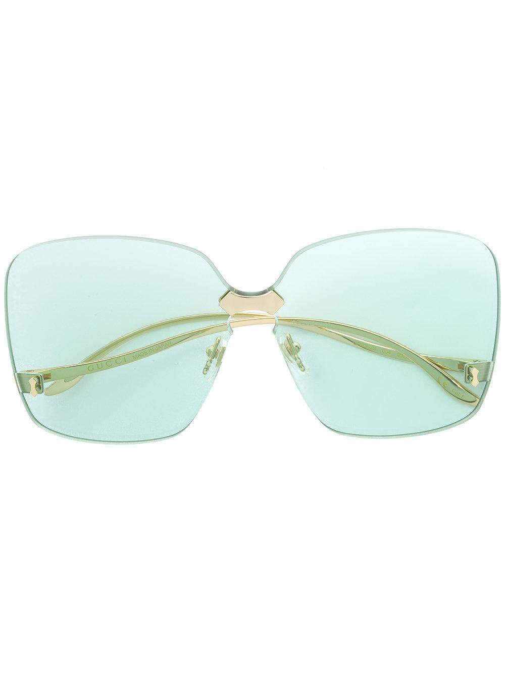 a19fbd15701 Gucci Eyewear Square Frame Rimless Sunglasses - Metallic