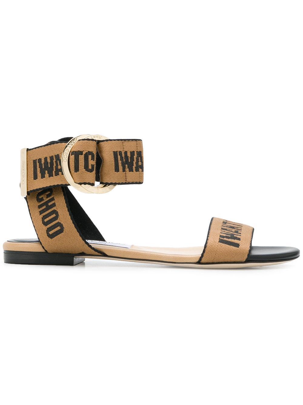 6775eaa45a7d Jimmy Choo Breanne Flat Sandals - Neutrals