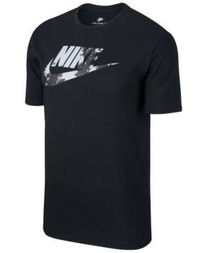 Nike Men's Sportswear Print-Logo T-Shirt In Black