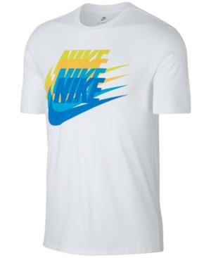 Nike Men's Sportswear Logo T-Shirt In White