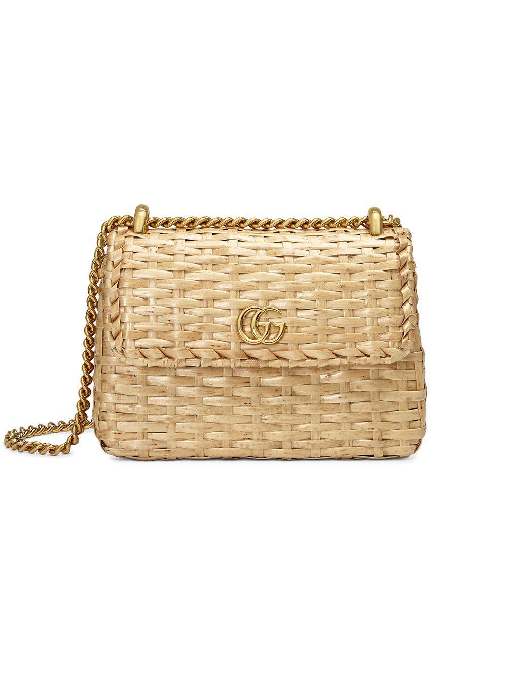 283696a03 Gucci Straw Mini Shoulder Bag - Neutrals   ModeSens