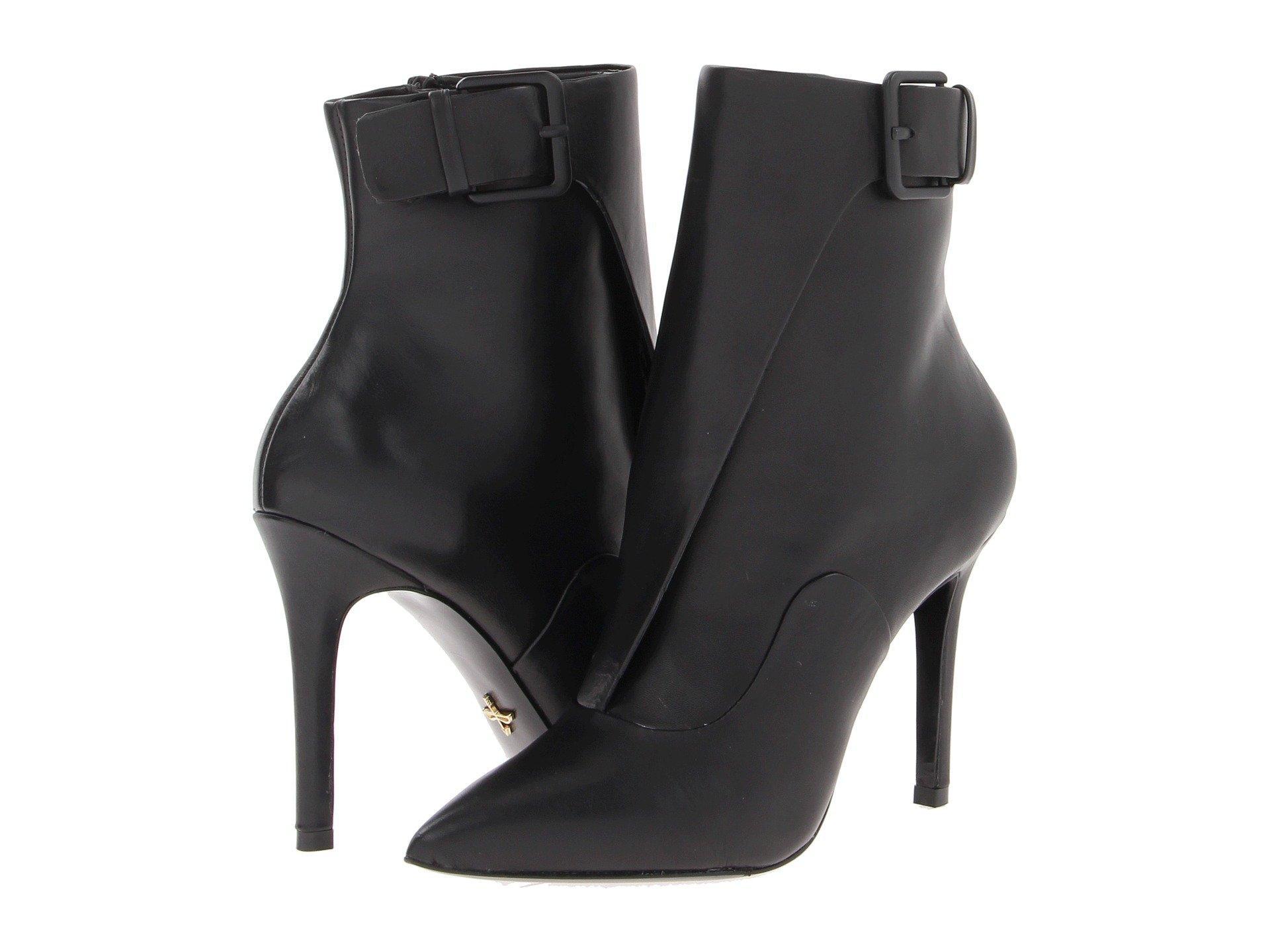 Pour La Victoire Carrigan Dress In Black Little Calf