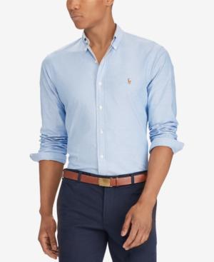 cf3801d942 Polo Ralph Lauren Slim-Fit Stretch-Oxford Shirt In Blue   ModeSens