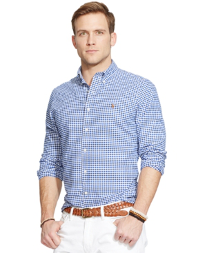 Polo Ralph Lauren Checked Oxford Button-Down Shirt - Classic Fit In Blue White Check