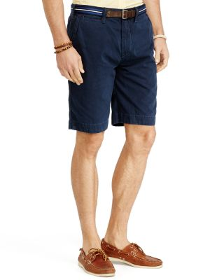 "Polo Ralph Lauren Men's 9.5"" Classic-fit Flat-front Chino Shorts In Aviator Navy"
