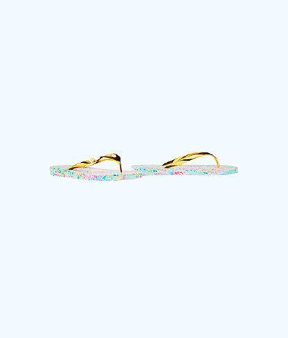 1233ae725fec Lilly Pulitzer Womens Pool Flip-Flop In Multi Jet Stream Shoe