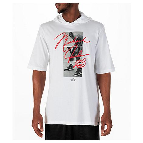 c7bc0d07d61572 Nike Men s Jordan Sportswear Mj Signature Hooded T-Shirt